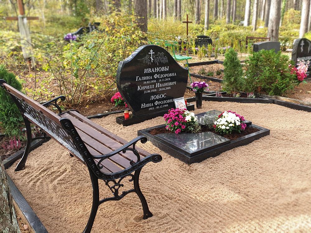 Jauna kapu pieminekļa izveide Pļavnieku kapsētā no Karēlijas melnā granīta
