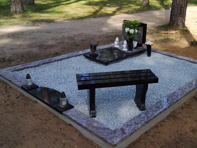 Jaunas apbedījuma vietas labiekārtošana Tilderu kapos