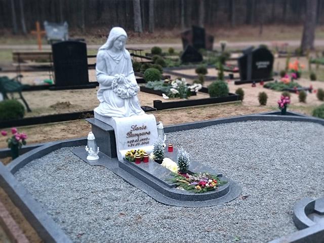 Memoriālā ansambļa izveide Katlakalna kapos ar baltā marmora Carrara skulptūru pēc cilvēka sejas līdzības