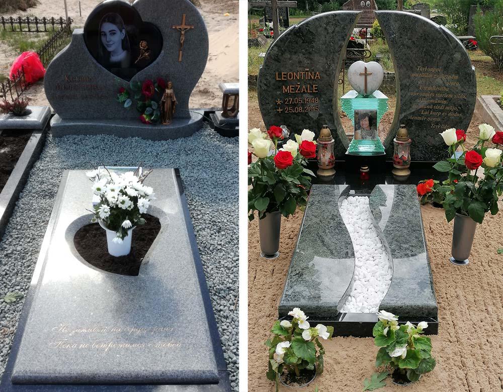 Individuāla dizaina kapu piemineklis